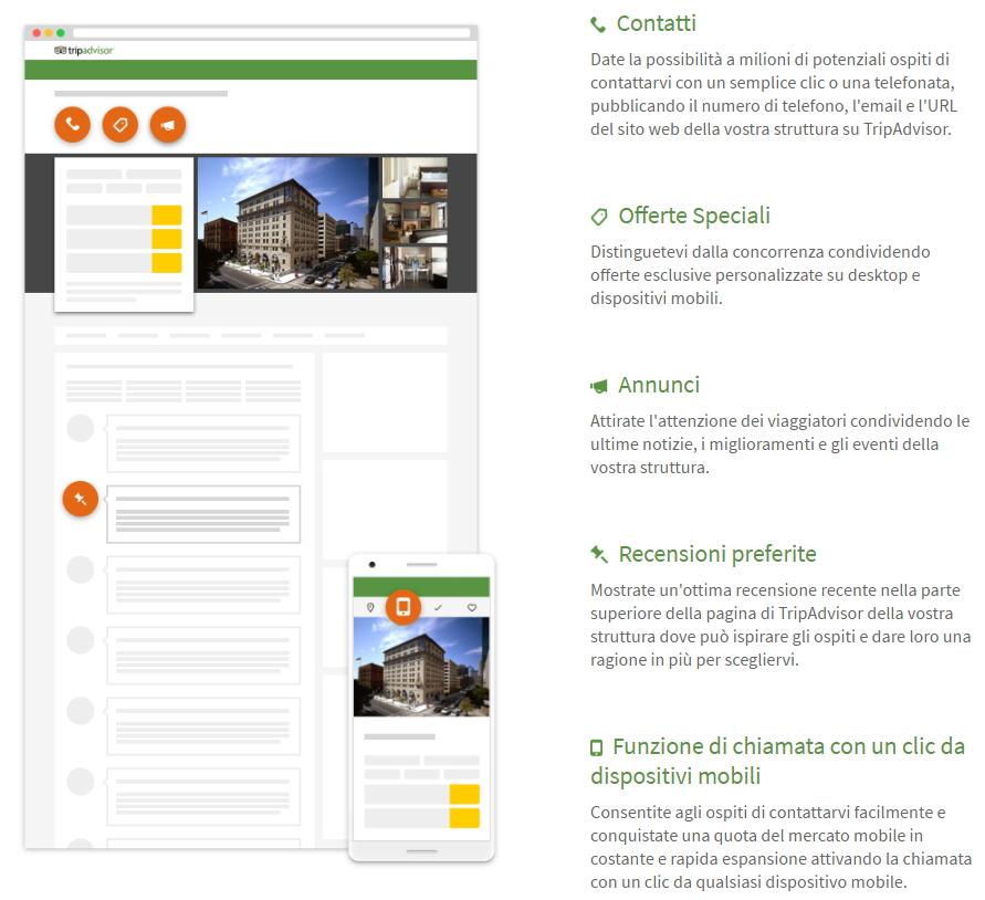 Funzionalità promozionali di Tripadvisor Business Advantage